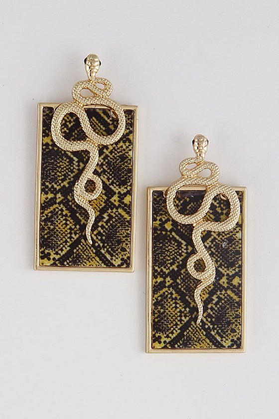 Image of CINDY SnakeSkin EarRings