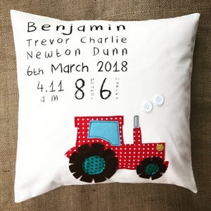 Image of Personalised Tractor cushion