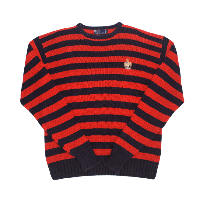Image of Polo Ralph Lauren Vintage Crest Knit Sweater Size L