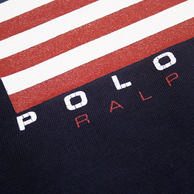 Image of Polo Sport Ralph Lauren Vintage Big Flag Sweatshirt Size XL