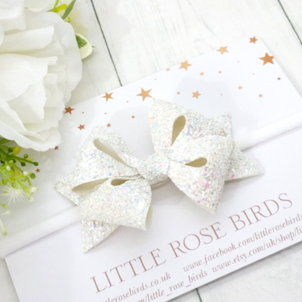 Image of CHOOSE YOUR COLOUR - Glitter Sophie Star Bow - Choice of 20 Colours