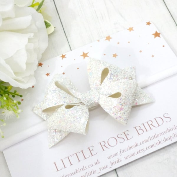 Image of Glitter Sophie Star Bow - Choice of 20 Colours