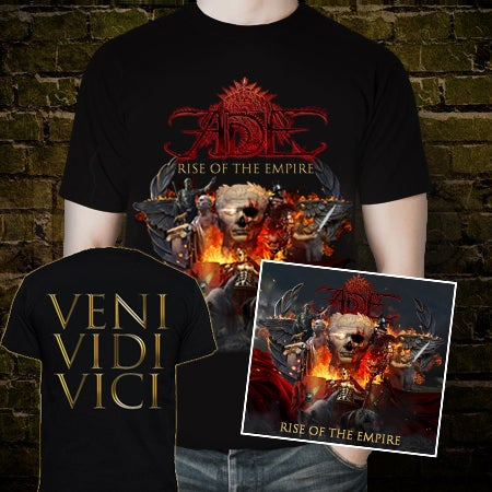 Image of SPECIAL PACK! RISE OF THE EMPIRE DIGIPACK CD + T-SHIRT