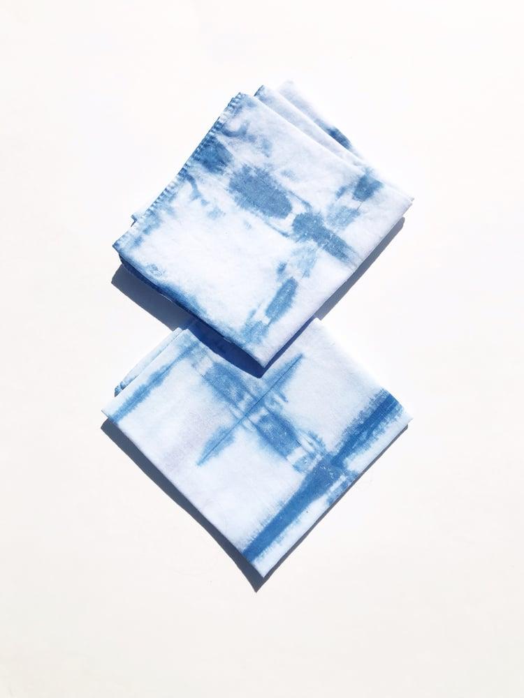 Image of Folded Shibori Indigo Bandana