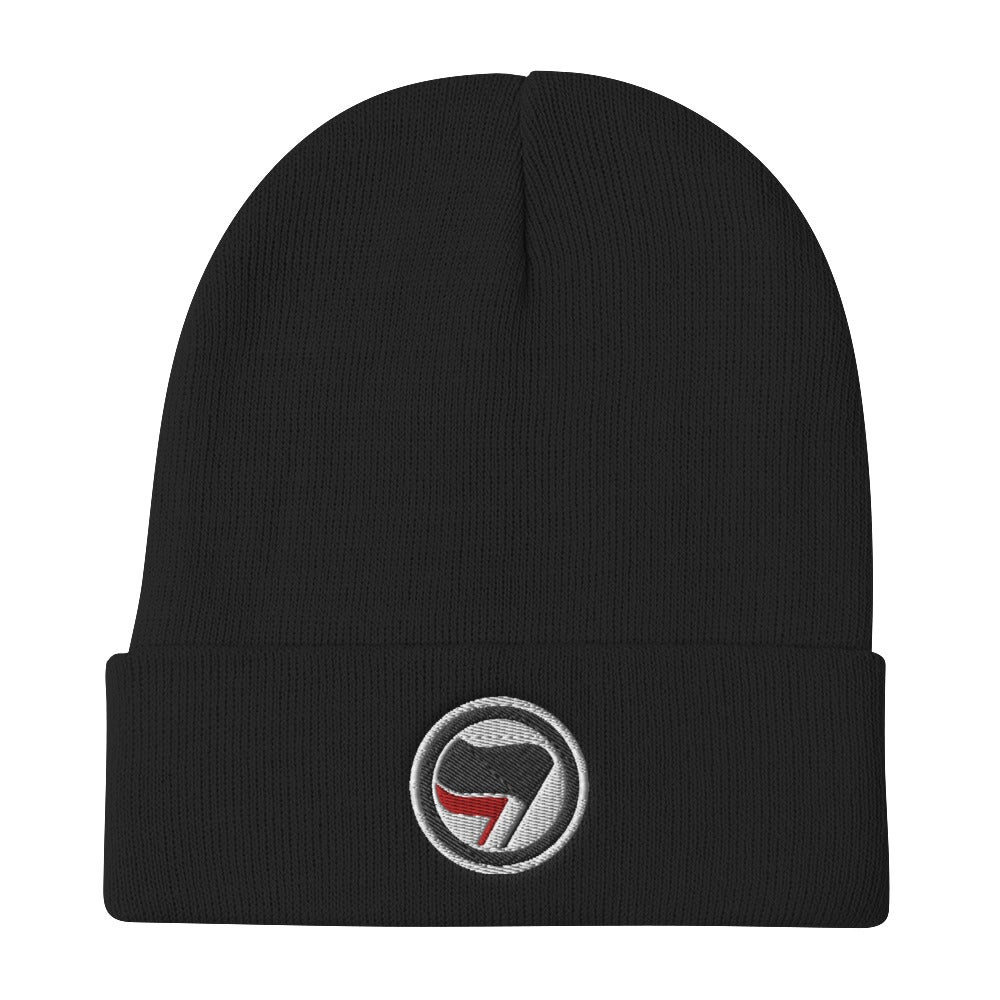 Image of Red and Black flag Beanie