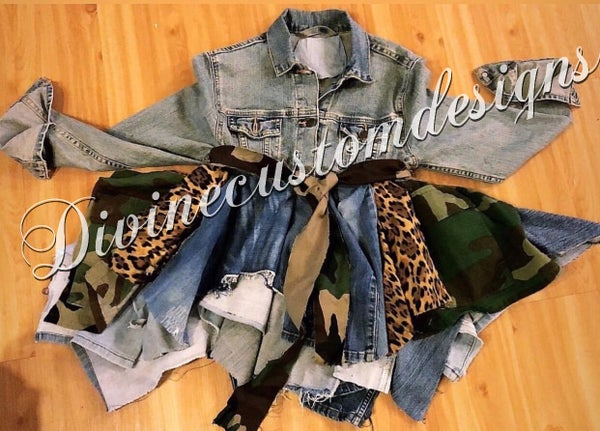 Image of Dope Girl Denim Camo Jacket