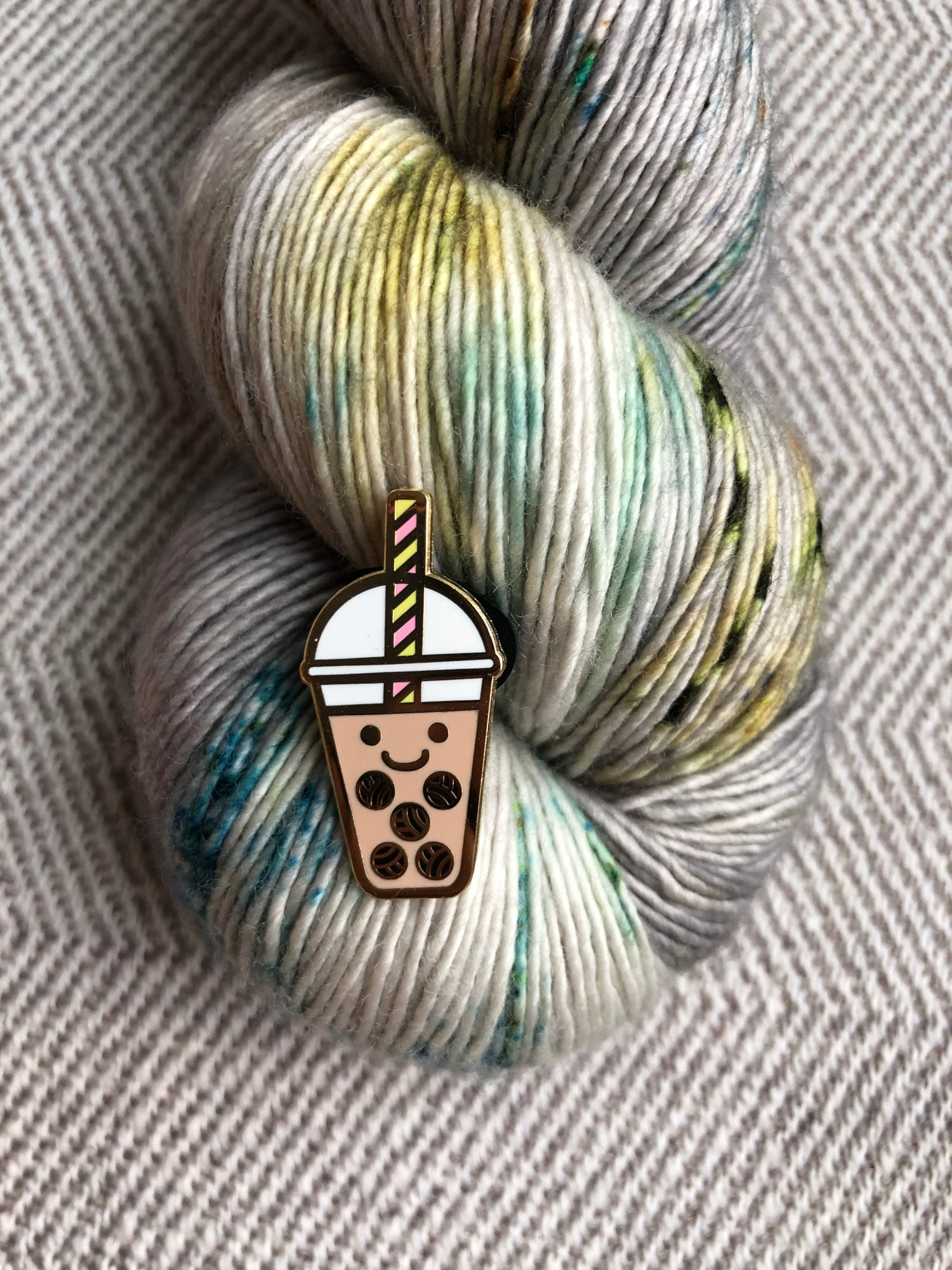 Image of Bobble Tea Enamel Pin