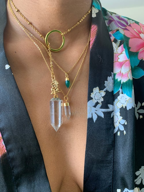 Image of ANEW II • Clear Quartz Lariat