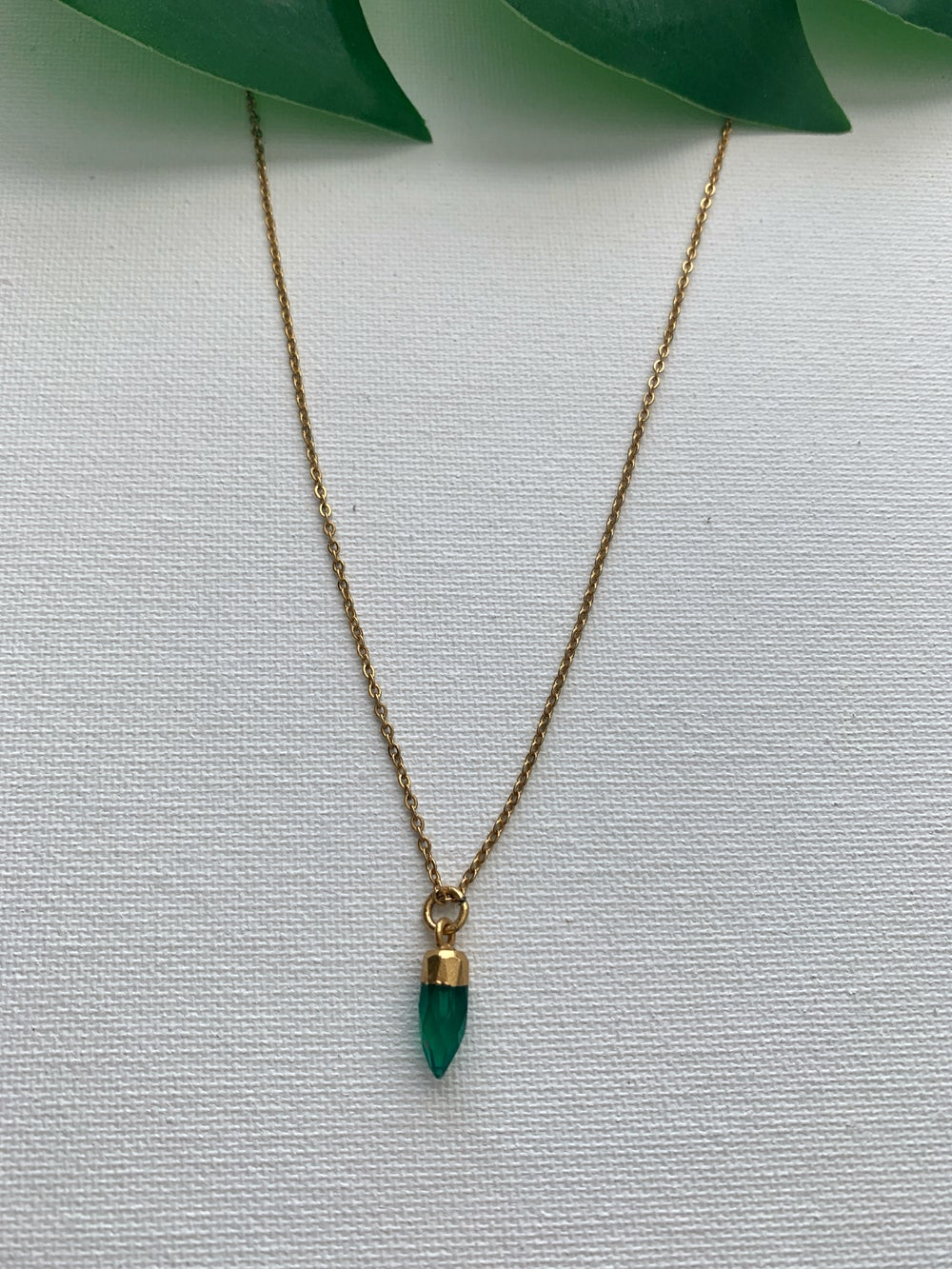 Image of LIL BABY • Green Onyx Necklace