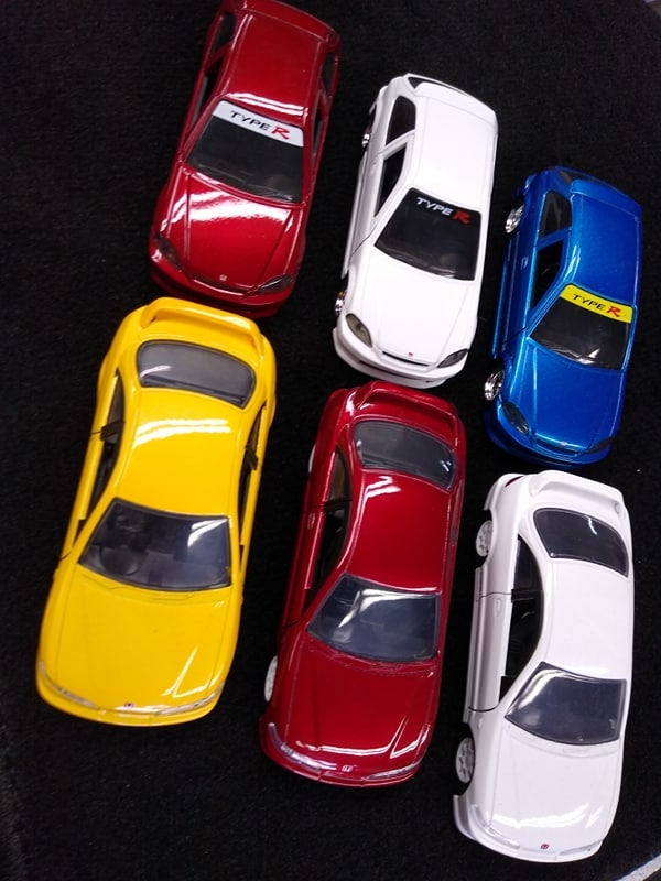 Image of Civic Type-R and Integra Type-R Jada JDM Tuners 1:32 Diecast Model Toy Car