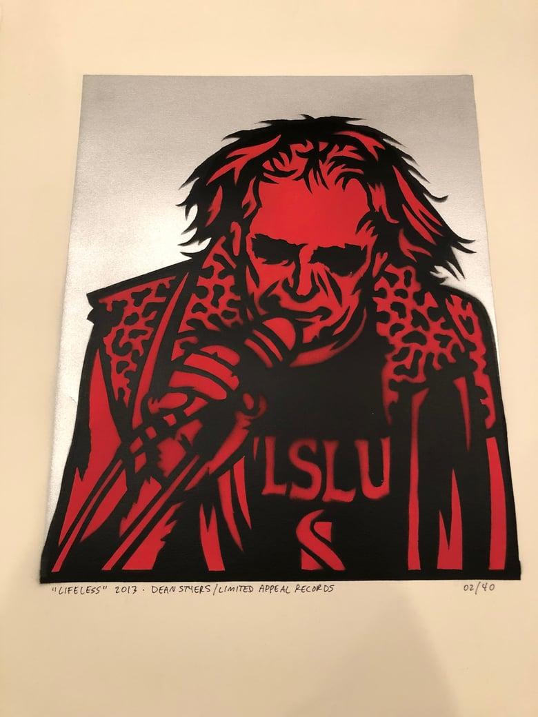 Image of Larry Lifeless / Kilslug Stencil Painting