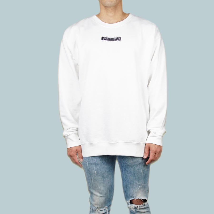 Image of FRUI DTLA Graphic White Sweatshirt