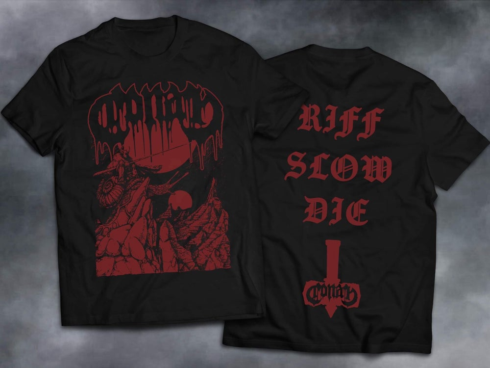 Image of Sentinel Riff Slow Die Shirt w/ Red Print