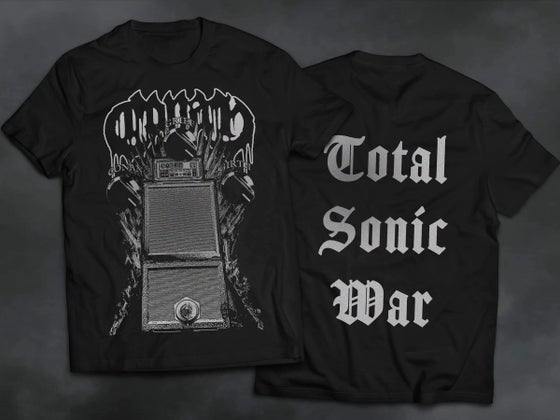 Image of Fuzz Throne Total Sonic War Shirt w/ Grey Print