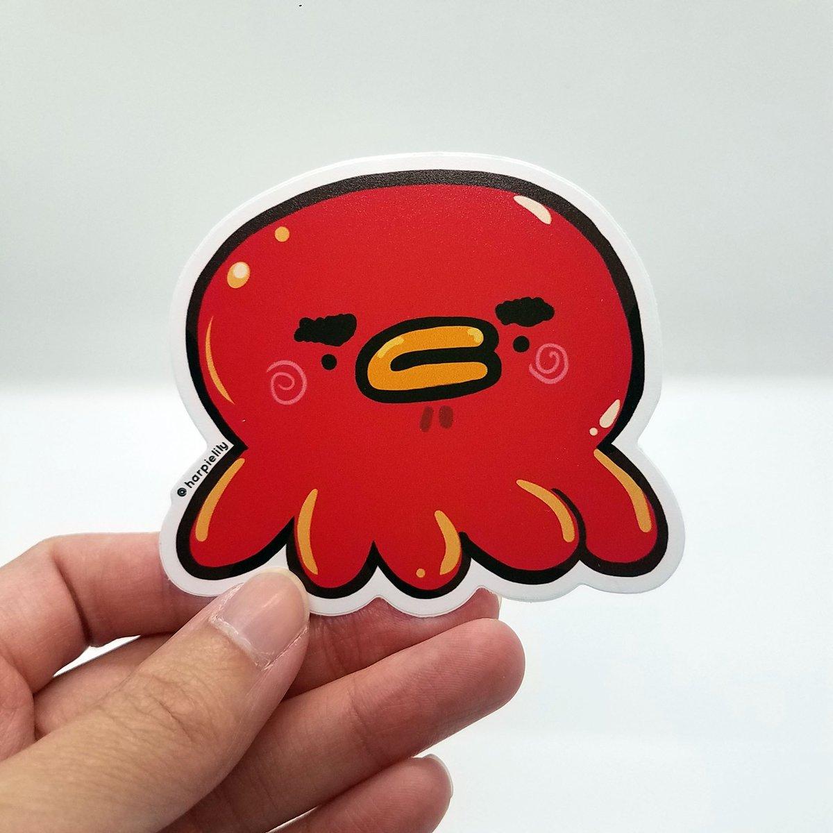 Image of Grumpy Octo vinyl sticker