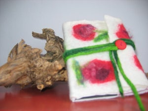 Image of felt book cosy