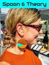 Acrobat Gold Dipped Color Block Earrings