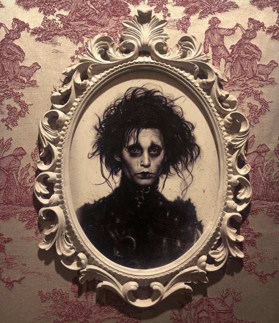 Image of 'EDWARD SCISSORHANDS' [ Unique Print - { 1/1 } ] Hand Embellished Museum Archival Print
