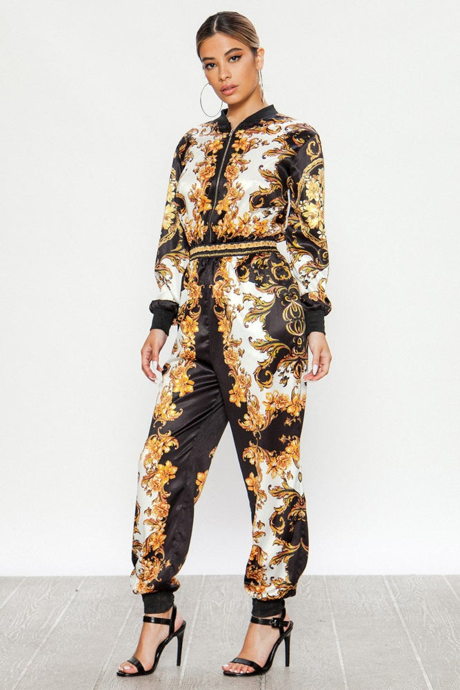 Image of Printed Jumpsuit