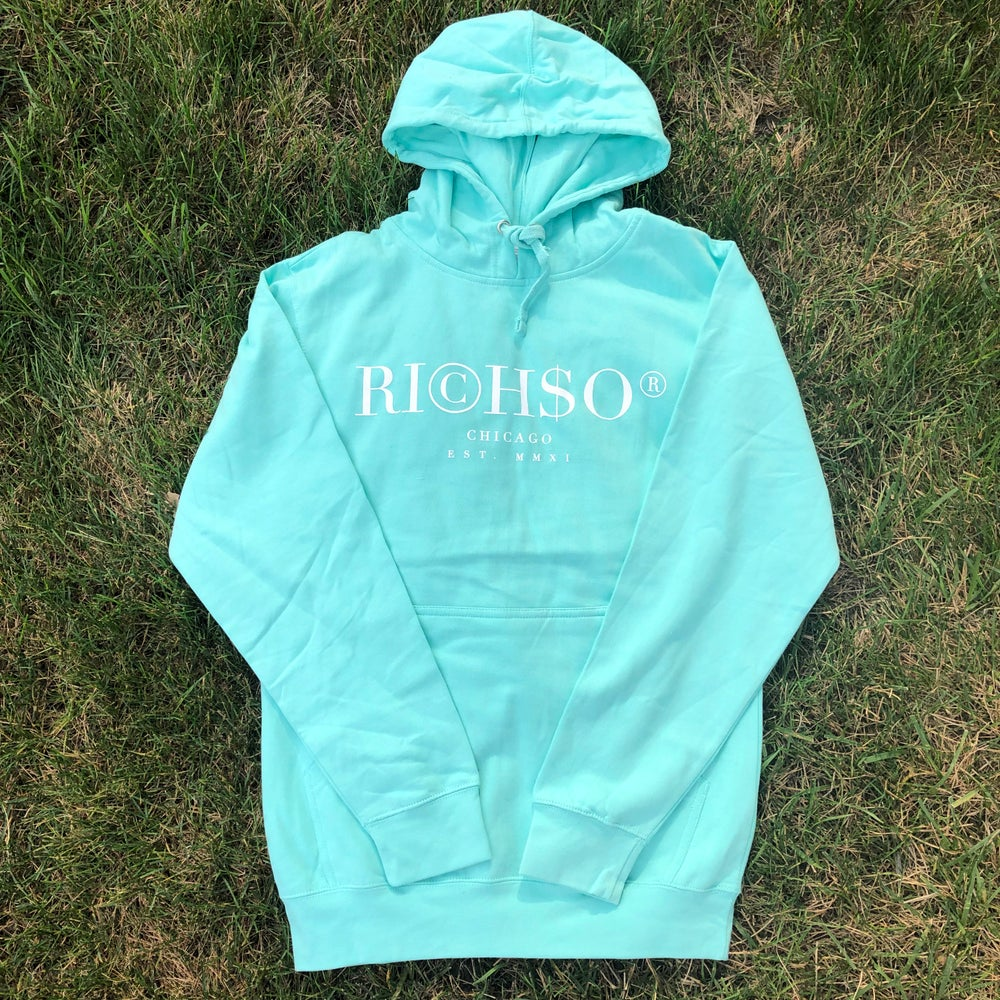Image of Alternate Logo Hoodie (Tiffany Blue)