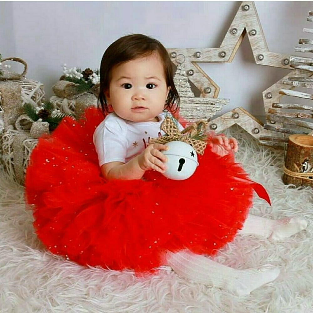 Image of Full Red Sparkle Puffball