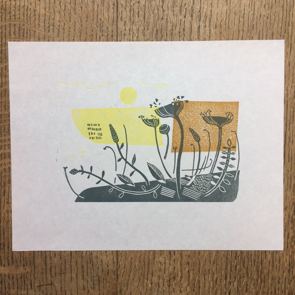 Image of Bankside Lino cut print