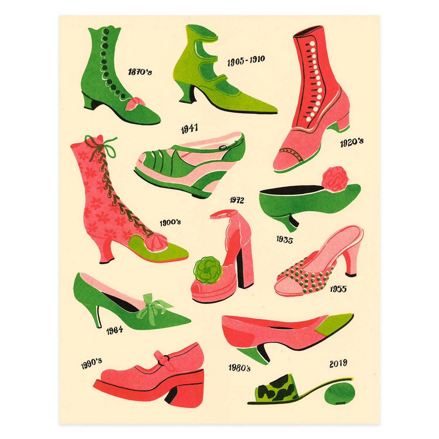 Image of Shoes Riso Print