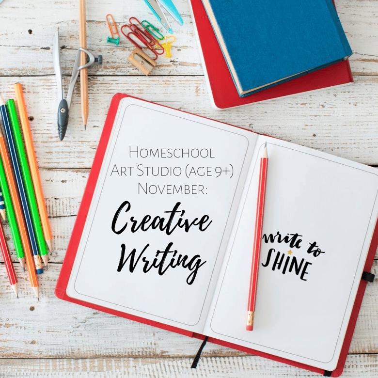 Image of Homeschool Art Studio (Age 9+) November: Creative Writing