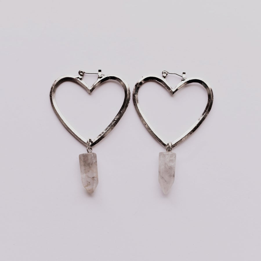 Image of Venus Earrings | Silver & Smoky Quartz