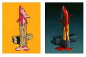 "Image of ""Sharkstick I & II"" - Set of two 9"" x 12"" limited edition giclees"