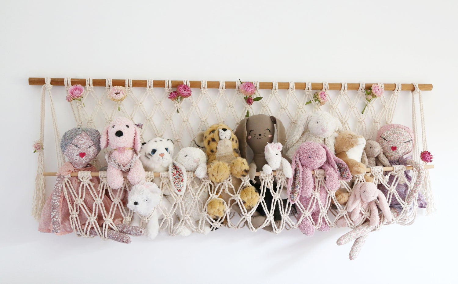 Image of Macrame Stuffed Toy Hanger