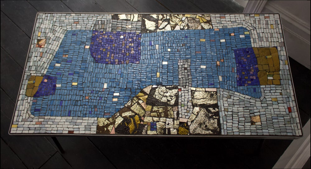 Image of Handmade Mosaic Table by Helmut Lander, 1953