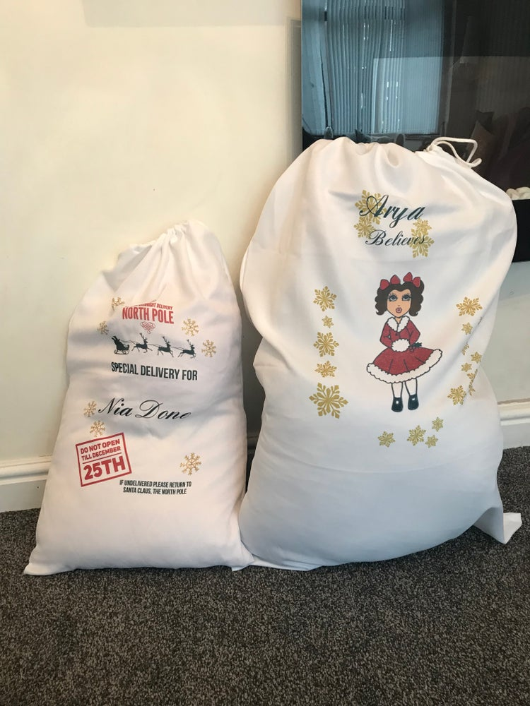 Image of Personalised Christmas Eve Sack