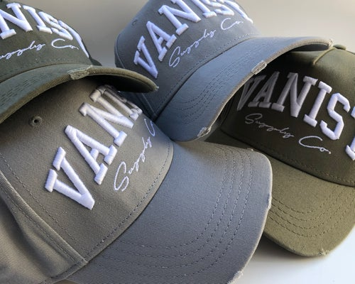 Image of 3D Embroidered Distressed Cap [MIXED COLOURS]