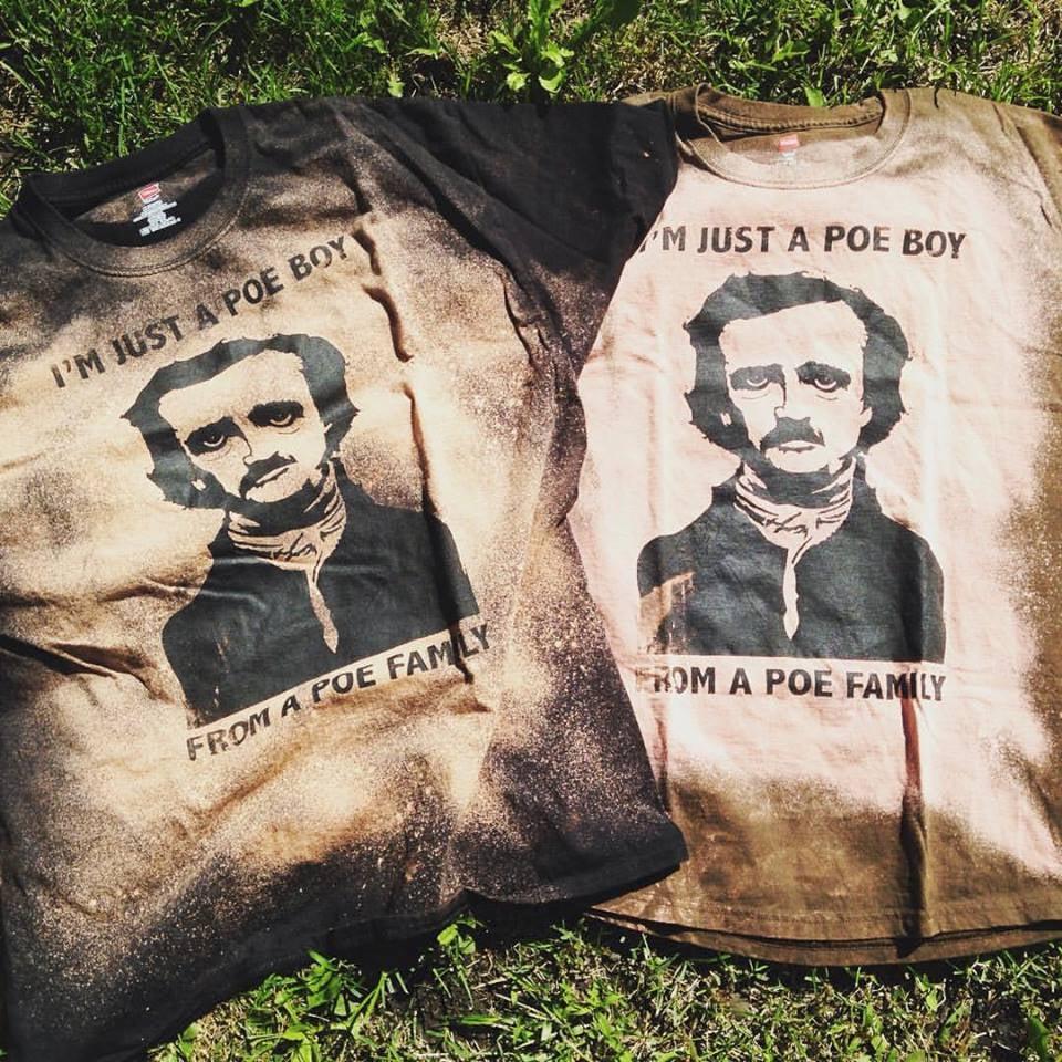 """I'm just a Poe boy"" distressed tee"