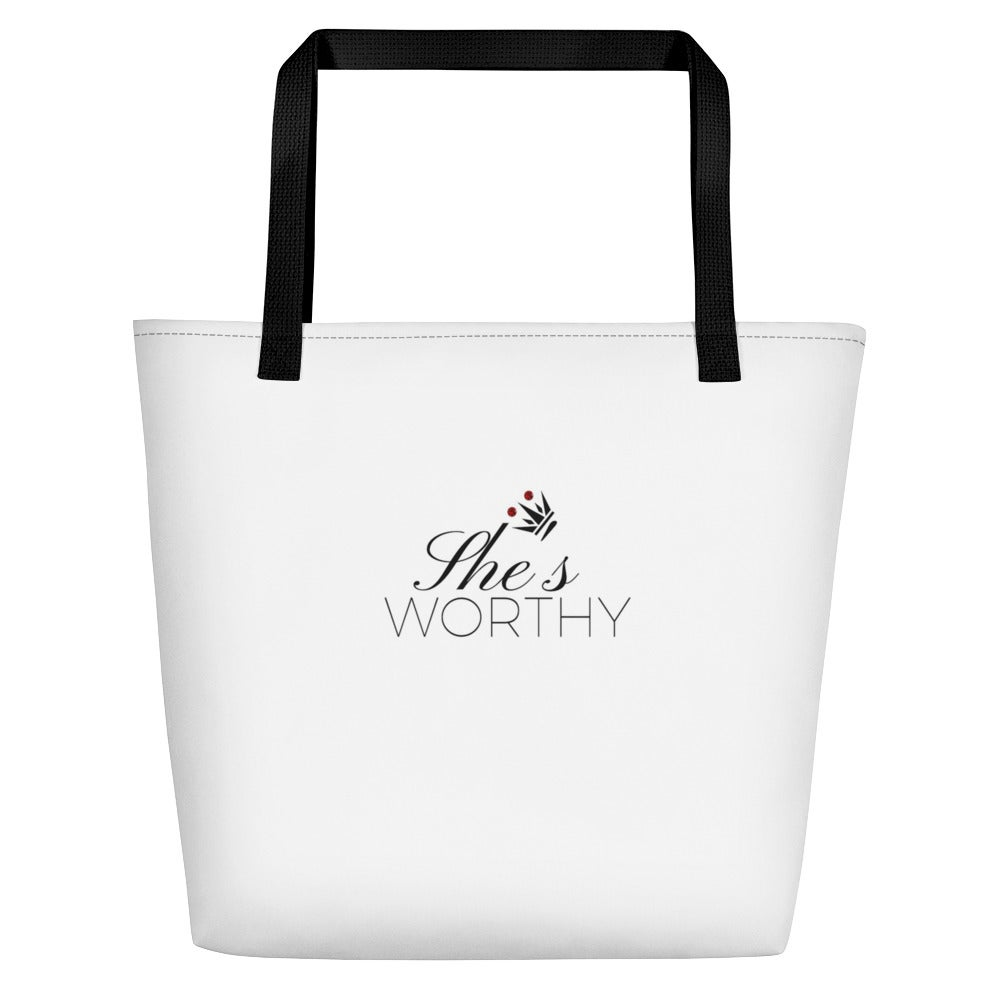 Image of She's Worthy Tote Bag