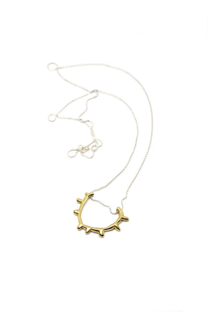 Image of SUN SPROCKET NECKLACE