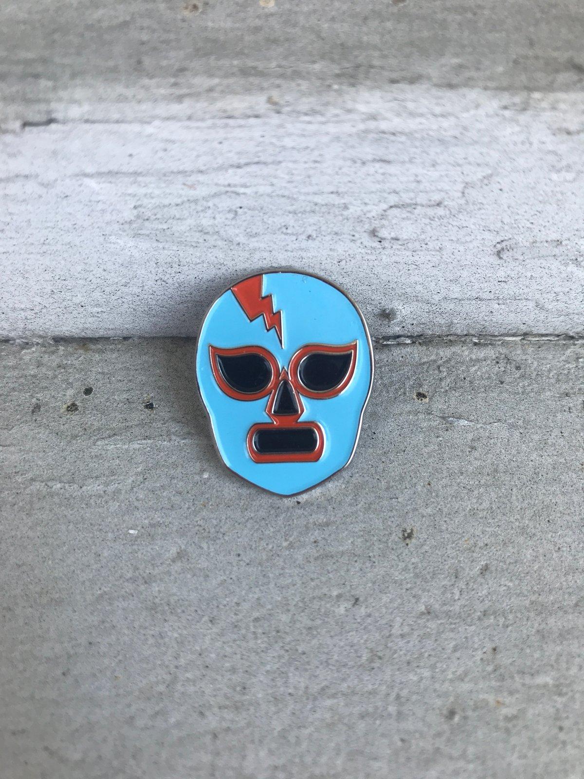 Image of Máscaras 1 (Blue & Orange)