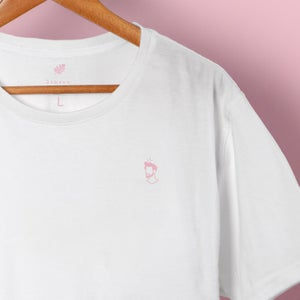 Pink Head Embroidery Tee