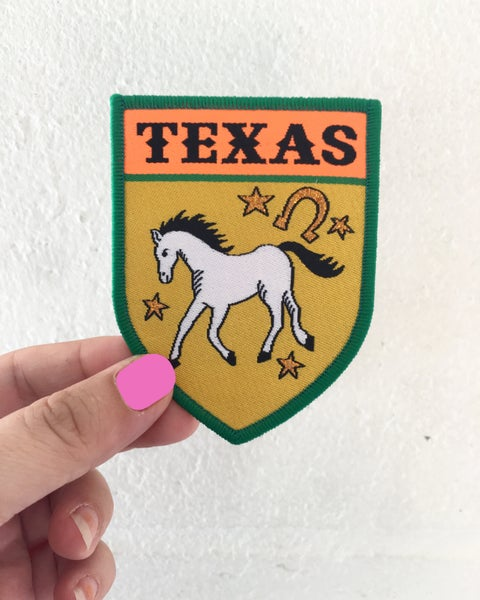 Image of Texas iron on Travel Patch