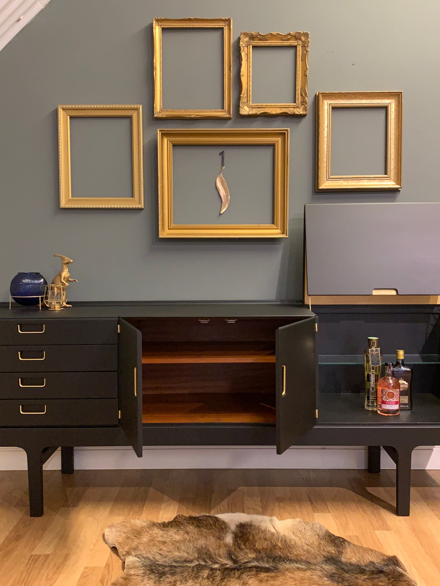 Image of Black & Gold  Meredew drinks sideboard