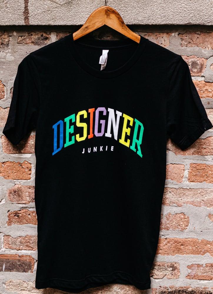 Image of Varsity Designer Junkie Tee ( Black )