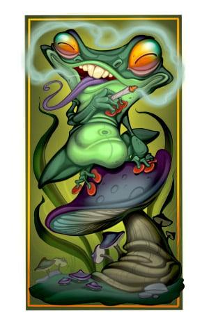Image of Groggy Frog 2019 High Quality Inkjet Print
