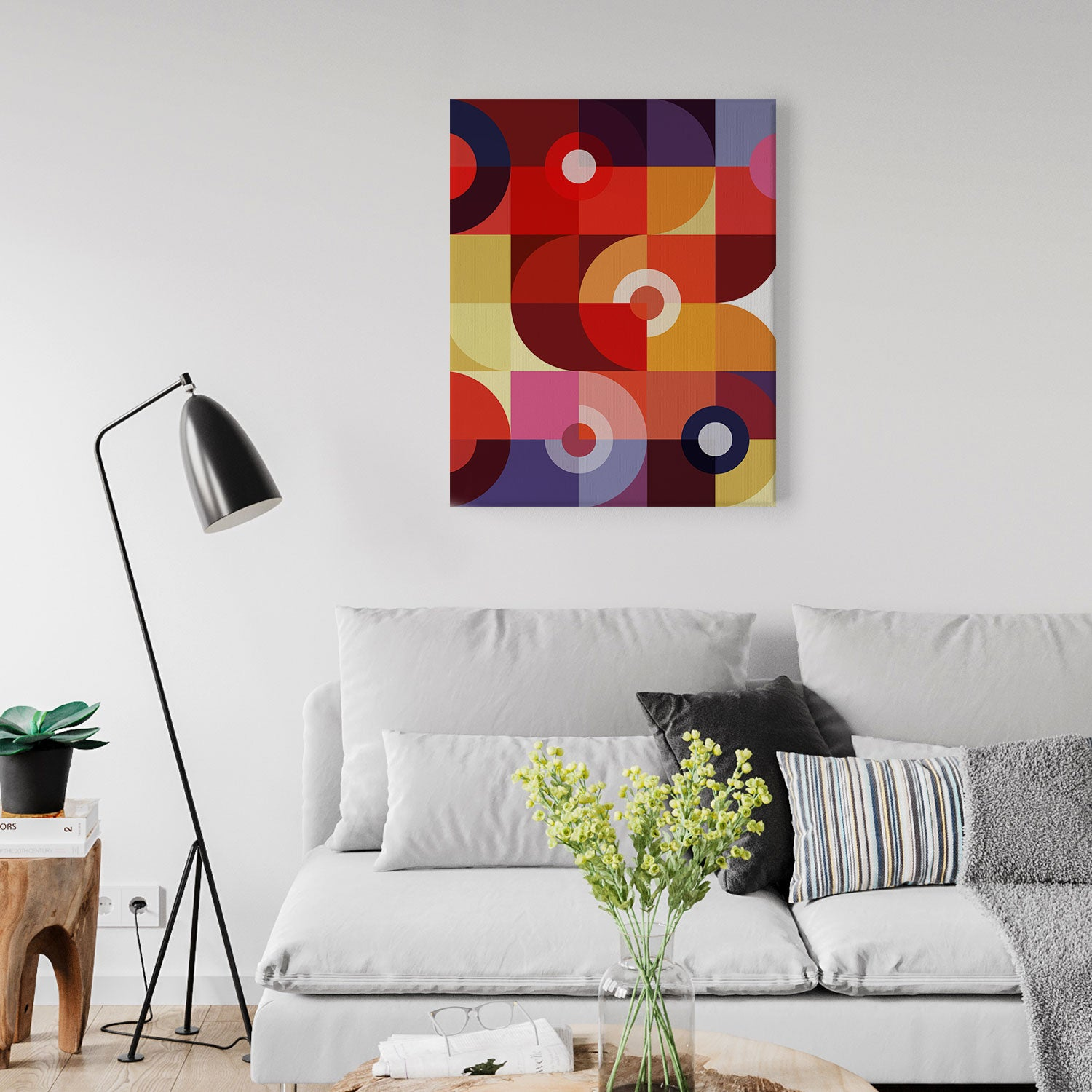 Image of Mechanics of Color No. 1 Canvas Print