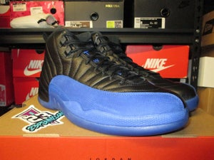 "Image of Air Jordan XII (12) Retro ""Black/Game Royal"