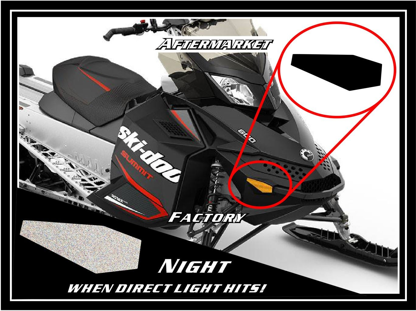 Image of FRONT SKI-DOO BLACK REFLECTORS - #520000718