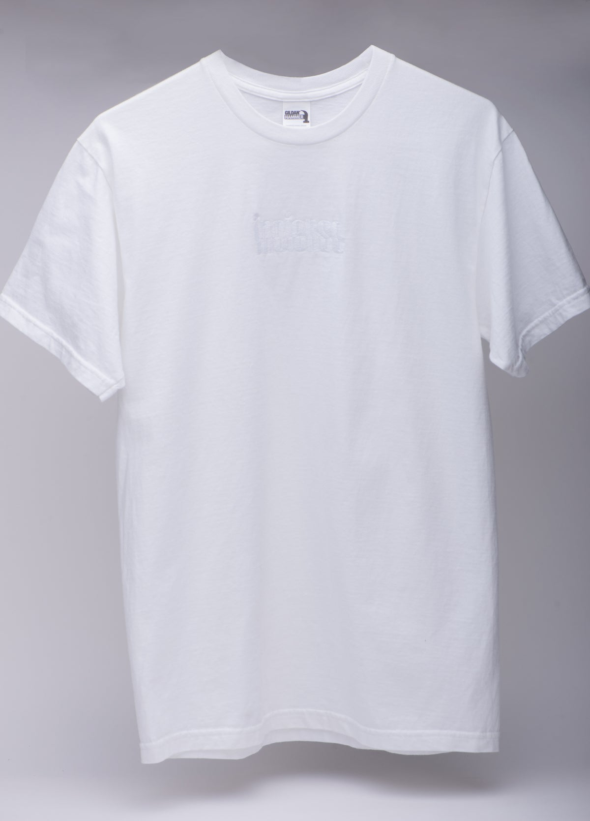Image of EMBROIDERED LOGO TEE WHITE