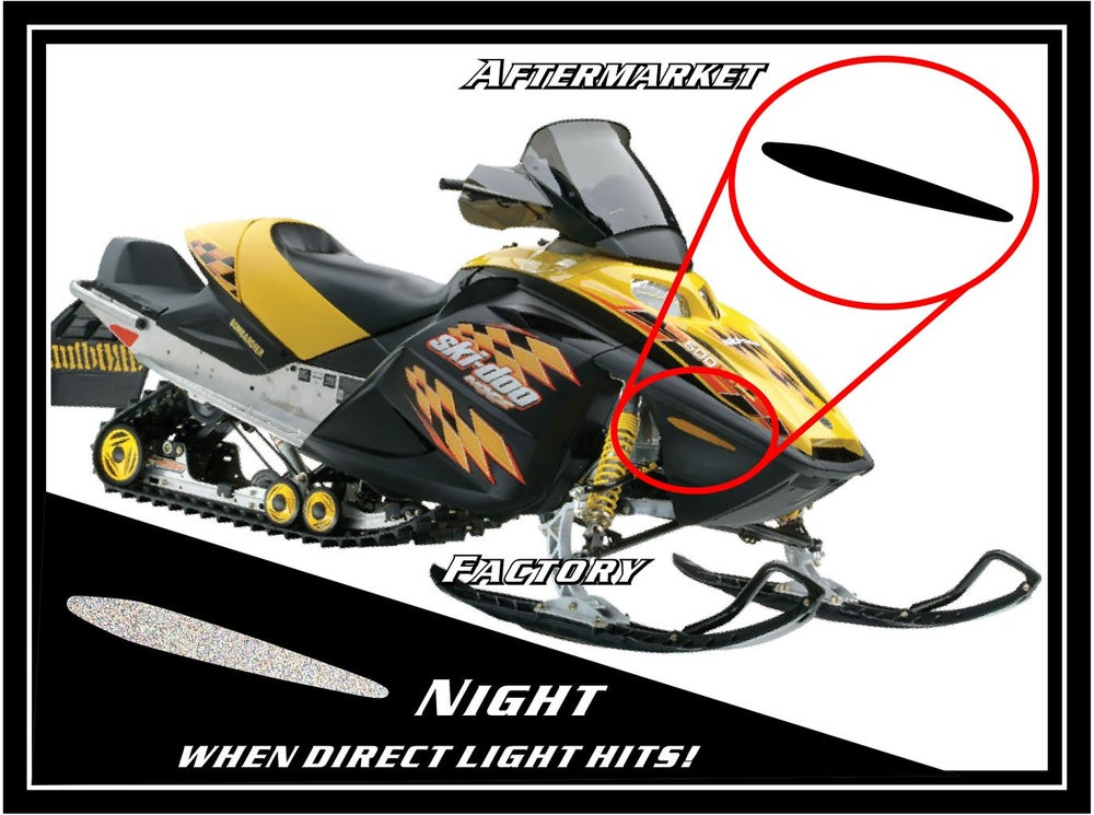 Image of FRONT SKI-DOO BLACK REFLECTORS - #516001336