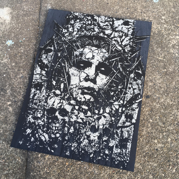 Image of 'Consumed' Wood Panel