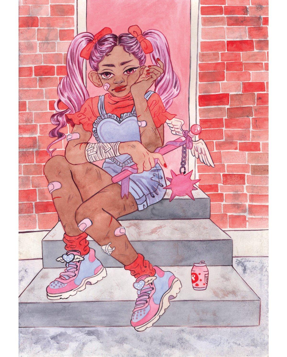 Image of Battle Damaged Magi Girl (8x10)